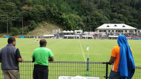 国体ラグビー観戦