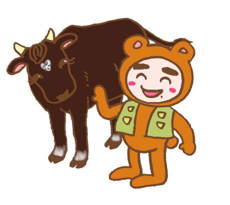 牛とプリ太カラー