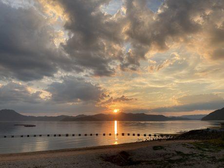 大三島の夕日